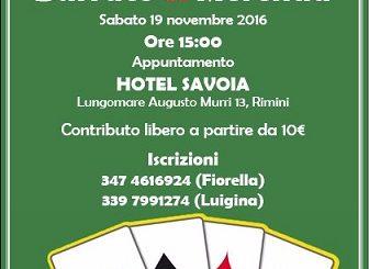 Torneo di burraco 19.11.2016
